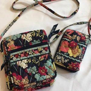 Vera Bradley Happy Snails Crossover Bag & Wristlet